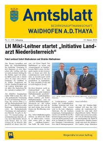 Amtsblatt BH Waidhofen a.d. Thaya